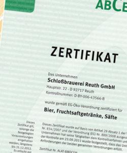 BANNER-Schlossbrauerei-Reuth_Zertifikat_OEKO